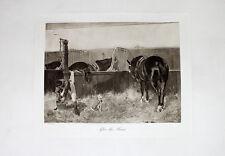 Otto Walter After the Hunt Pferdestall Pferd Jäger Hunter Fuchsjagd Hund Stall