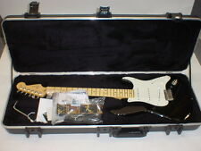 Fender American Standard Stratocaster Strat Electric Guitar Black Maple w/ Case