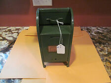 "Vintage Mailbox Bank All American 9"" Tall Steel Collection Box 1950's #7"