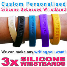 Charity - Personalised Wristband Silicone Debossed - Create your own