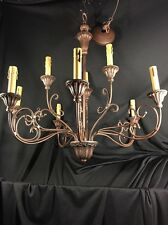 "Large 27"" Dining Room 9 Candle Light Chandelier Oiled Bronze"