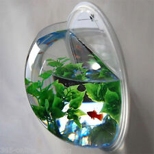 Plastic Fish Wall Mounted Bowl Aquarium Wall Hanging Tank Bubble Bowl 2.2 Litre