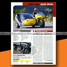 ★ SIDE-CAR SIDE BIKE 200 ZEUS ★ 2002 Essai Moto / Original Road Test #a1250