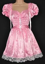 JOL 5 - 77a Gorgeous satin French maid dress, BN, figure hugging, XL, baby pink