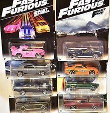 HOT WHEELS 2016 FAST & FURIOUS COMPLETE SET OF 8 TOYOTA HONDA MUSTANG FORD DODGE