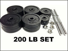 BRAND NEW 200 LB ADJUSTABLE DUMBBELL FREE WEIGHTS COMPLETE SET 100LB x 2PCS!