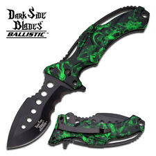 Dark Side Blades Pocket Knife Snake Skin Camo Spring Assist Fantasy Collection