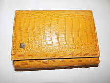vintage tan leather crocodile skin leather purse croc pattern