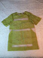 Rebecca Taylor Yellow Patch Lace Tunic Summer Party Dress Women's Size 4