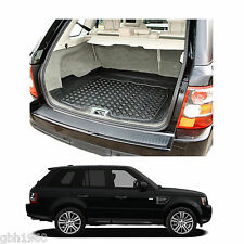 Range Rover Sport tailored anti slip thick black rubber boot mat load liner