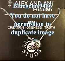 SALE!! Alex and Ani Sacred Stud Om Necklace Silver Plated - Discontinued/Rare