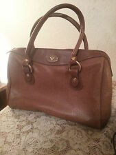 Vintage Guess Camel Pebble Grain Leather Tote Medium Designer Hand Bag Purse