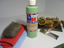 Gords Aluminum, Chrome, Stainless, Copper, Brass/ Cleaner-Polish-Sealer 16oz kit