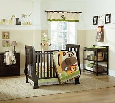 Kulala By NoJo 4pc Crib Bedding Set Jungle Pals Lion Monkey Giraffe Elephant