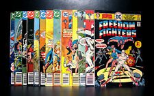 COMICS: DC: Freedom Fighters #1-15, missing #3 (1976) - RARE (flash/batman)
