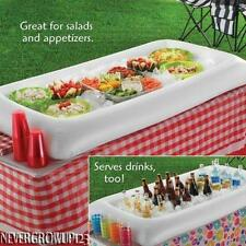 INFLATABLE BUFFET~SALAD~FLOATING POOL BAR~COOLER~ICE~PARTY~FOOD~DRINK~NEW