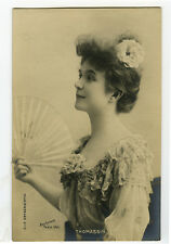 c 1901 French Theater Music Hall Cabaret MLLE THOMASSIN Beauty photo postcard
