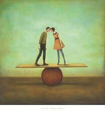 FINDING EQUILIBRIUM ART PRINT BY DUY HUYNH 26x28 fantasy surreal quirky strange