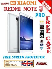 "NEW 32GB 5.5"" SILVER WHITE XIAOMI REDMI NOTE 3 PRO SNAPDRAGON 650 16MP PRIME UK"