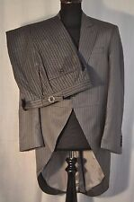 "Vintage Holland & Sherry grey stripe morning suit size medium 40"" waist 32"""