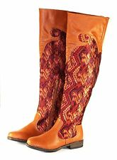 montage-58 Over Knee Zipper Casual Synthetic Women's Winter Boots Chestnut 5.5**