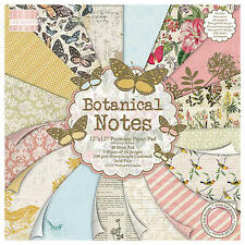 First Edition Botanical Notes Premium Paper Pad - 12x12 FEPAD087