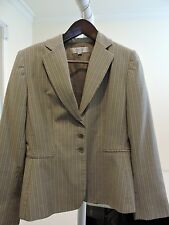 Tahari Wool Blend Multi-Colored Pin Striped 3 Button Jacket - Size - 12