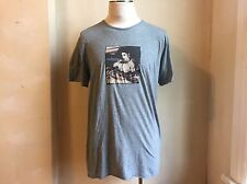 DOLCE & GABBANA GREY SOFT THIN COTTON  MADONNA TRUE BLUE PRINT T SHIRT S 56 2XL