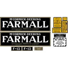 NEW F12 MCCORMICK DEERING FARMALL TRACTOR COMPLETE DECAL KIT HIGH QUALITY VINYL