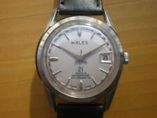 Vintage SWISS HALES 21 Jewels Manual Men's Watch,date