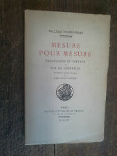 Mesure pour mesure William Shakespeare gravures sur bois par Gampert