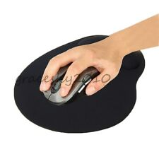 1PC AntiSlip Black Gel Mouse Mat Pad With Wrist Soft Support Laptop PC WHS855