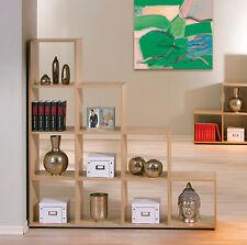 Petit meuble de séparation bibliothèque étagère de rangement large plateau CHÊNE