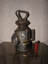 antique POLICE BELT patrol lantern old LAMP HANDHELD OIL LANTERN Blens ullseye