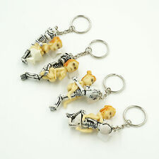 4 Set Dirty Erotic Sexy Skeleton And Beauty Keychain Keyrings Funny Love a