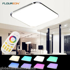 Modern 30W RGB LED Ceiling Light Dimming Bedroom Living Room Flush Mount Remote