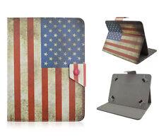 GUSCIO protettivo universale per 10 POLLICI TABLET eBOOK cover USA FLAG CASE CUSTODIA ASTUCCIO