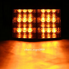18 LED Amber Car Police Strobe Flash Light Emergency 3 Flashing Modes 12V #W2