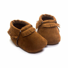 Warm Christmas Suede Baby Boys Girls Toddler Soft Infant Moccasins Shoes 0-6M