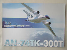 2002 DOCUMENT 1 PAGE RECTO VERSO ANTONOV AN-74TK-300T TRANSPORT AIRCRAFT