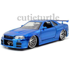 Jada Fast and Furious Movie Brian's 2002 Nissan Skyline GT-R R34 1:24 97173 Blue