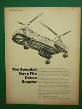 6/1969 PUB DECCA NAVIGATOR VERTOL ROYAL SWEDISH NAVY DECCA DOPPLER TYPE 71 AD
