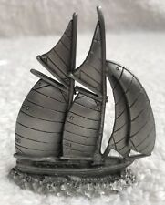 Spoontiques Pewter Sailboat Sailing Ship Schooner Yacht S770 Dated 1986