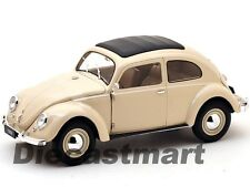 WELLY 18040W 1:18 1950 VW VOLKSWAGEN CLASSIC BEETLE DIECAST MODEL CAR BEIGE NEW