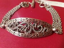 ☆LOIS HILL•($268.) Handcrafted Womens' SolidSterlingSilverRolo-ChainBracelet.NWT
