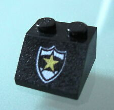 LEGO 3039pb017 @@ Slope 45 2 x 2 Police Star Badge Pattern @@ 6332 6636