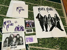 Mata Hari -Memorabilia LOT:2 CD set,signed photo, Poster,Promo kit_Melodic Rock
