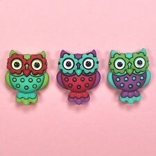 DRESS IT UP Buttons Retro Owls 7673  - Owl Embellishments
