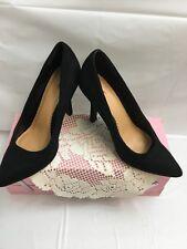 EUC AVENUE WOMEN'S BLACK FASHION DRESS HEELS PUMPS CLASSIC LEXIE 11 WIDE
