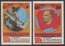LAOS N°691A/691B**  Lénine, espace TB 1986 Lenin, space Sc#684A-684B MNH
